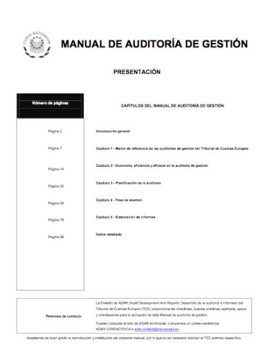 Manual de auditoría de gestión del TCEu