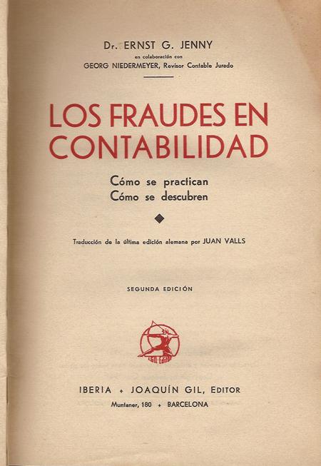 Libro de E.G. Jenny, editado en 1941