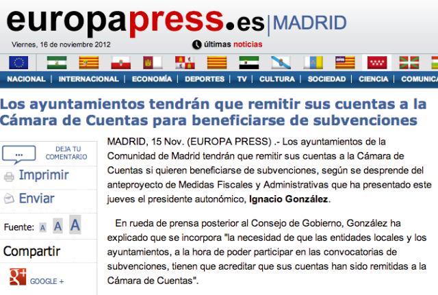 Madrid-rendicion para subvenciones