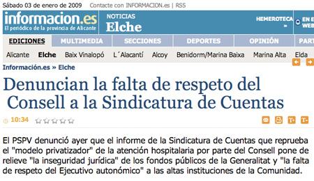 Diario Información, Comunidad Valenciana