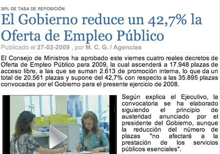 Se reduce la oferta de empleo