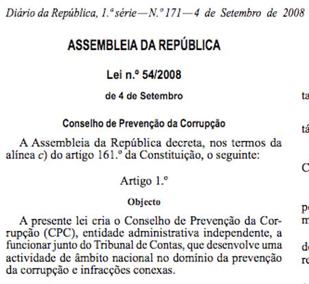 Diario Oficial de la República portuguesa