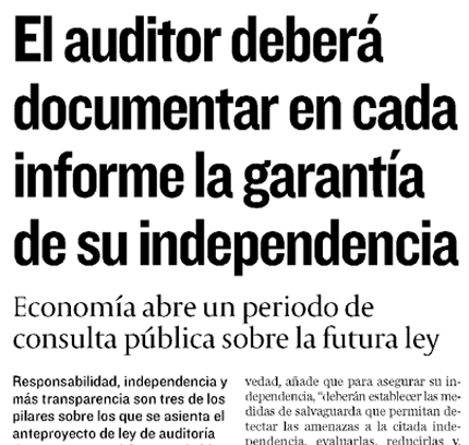 Diario Cinco Días, 18 de agosto de 2009