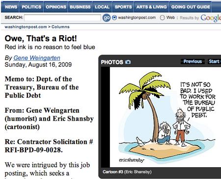 Washington Post, 16 de agosto de 2009