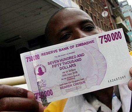 Inflacionario Dólar de Zimbabwe