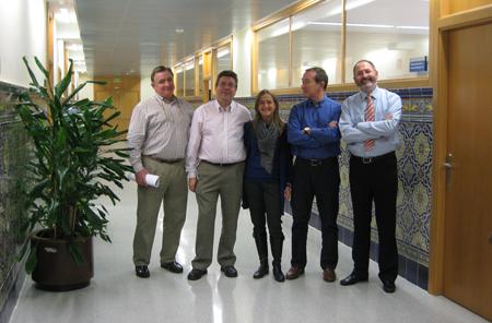 Los consejeros Vera Fajardo, Jesús Mariano García, la secretaria general, Teresa Crespo, e vicepresidente José Miguel Bonilla y yo