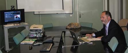 Sala de videoconferencias de la D. G. de Informática