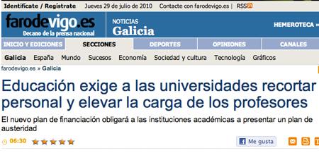 Galicia austeridade ...