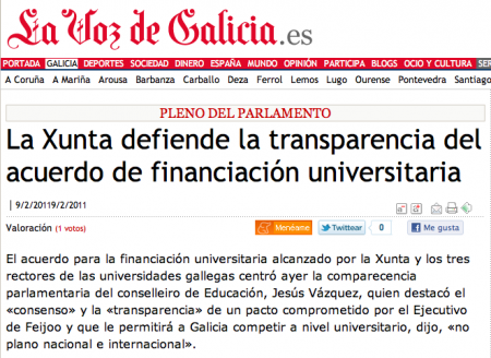 Universidades de Galicia (ver)