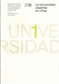"""Portada del libro """"La Universidad española en cifras-2010"""""""