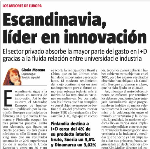 Escandinavia, lider en la innovación