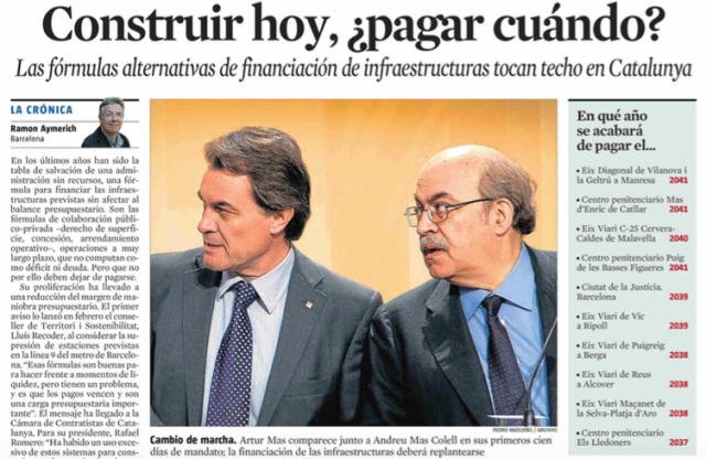 Infraestructuras catalanas
