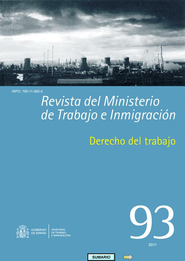 Descargar en pdf el numero 93 de la Revista del Ministerio de Trabajo e INmigracion