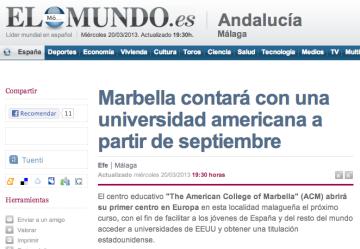 Marbella Uni americana