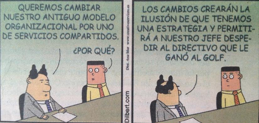Cambio organizacional Dilbert