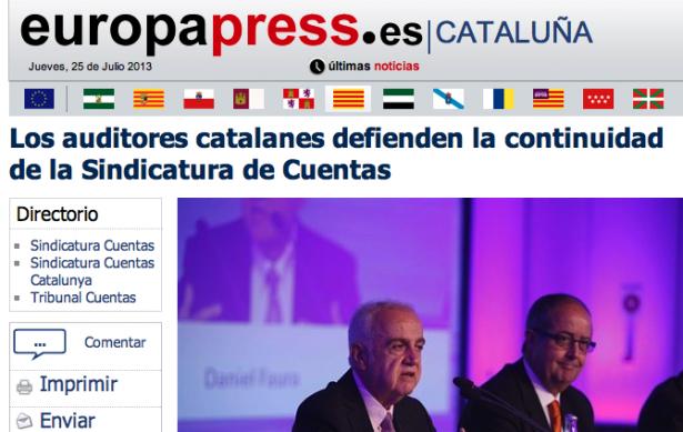 Los auditores catalanes defienden la continuidad de la Sindicatura de Cuentas