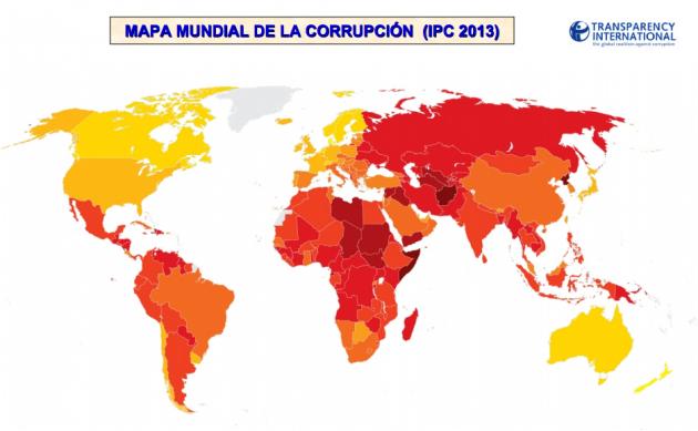 Mapa mundial de la corrupcion 2013