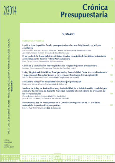 Cronica presupuestaria 2-2014