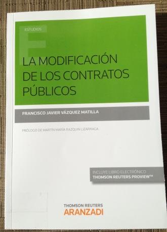 La modificación de los contratos públicos