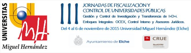 Jornadas fiscalizacion y control Elche 2015