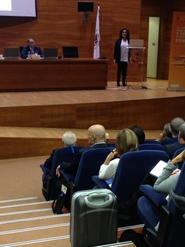 Jesús Graña y Ana Caro hablando de parques científicos