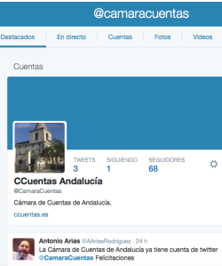 Twitter Cámara de Cuentas Andalucia