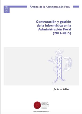CONTRATACIÓN Y GESTIÓN DE LA INFORMÁTICA EN LA ADMINISTRACIÓN. FORAL