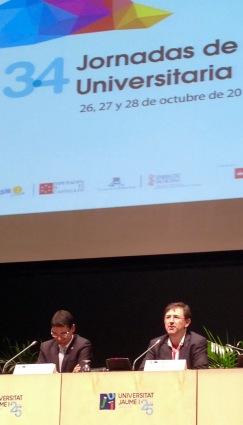 El rector Vicent Climent y el Gerente Andres Marzal